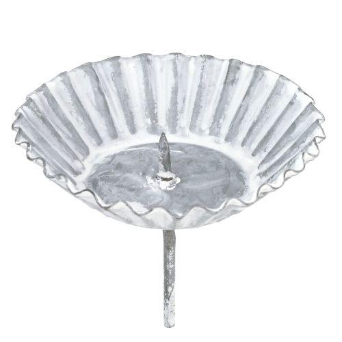Kerzenhalter Backform Grau Ø8,5cm H7,5cm 1St