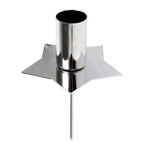 Kerzenhalter Stern Silber Ø2,2cm 4St