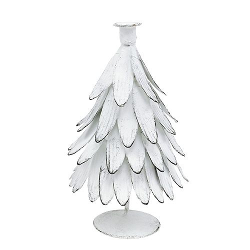 Kerzenhalter Tanne Weiß H19cm 1St