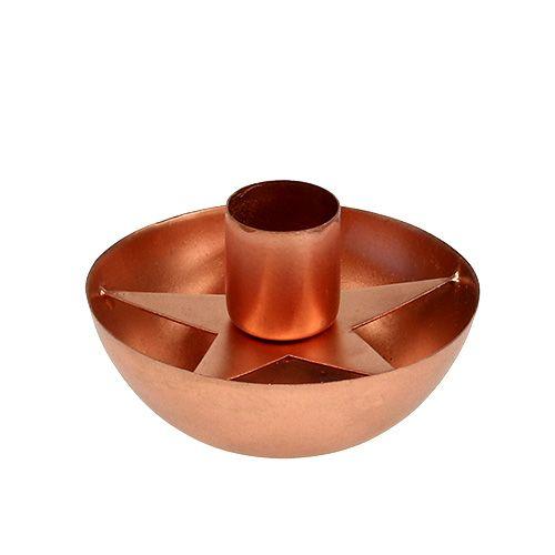 Kerzenhalter für Spitzkerze Kupfer Ø8cm H5cm