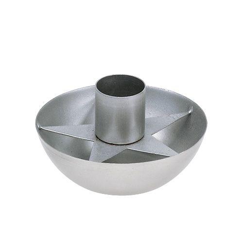 Kerzenhalter für Spitzkerze Silber Ø8cm H5cm