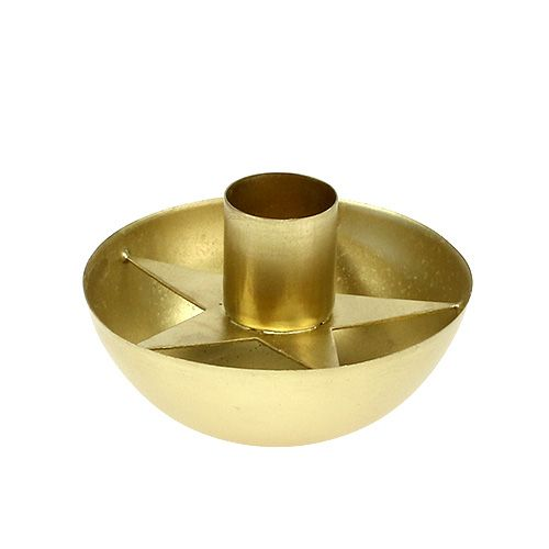 Kerzenhalter für Spitzkerzen Gold Ø8cm H5cm