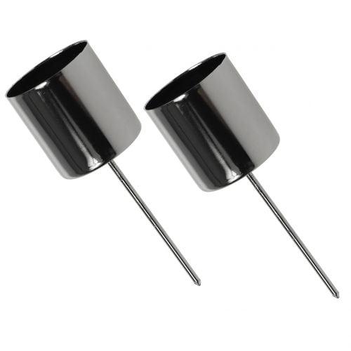 Kerzenhalter Anthrazit für Stabkerzen Ø3,5cm H4cm 4St