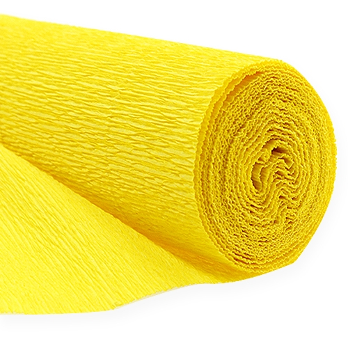 floristen krepppapier gelb 50x250cm kaufen in schweiz. Black Bedroom Furniture Sets. Home Design Ideas