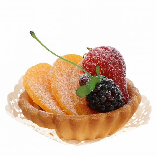 Törtchen Pfirsich künstlich Ø8cm