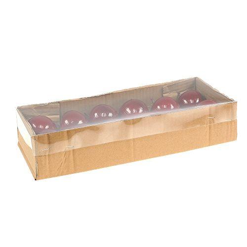 kunstobst apfel rot lackiert 5 5cm 12st kaufen in schweiz. Black Bedroom Furniture Sets. Home Design Ideas