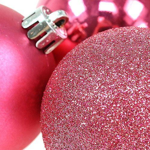 kunststoff weihnachtskugeln pink 6cm 10st kaufen in schweiz. Black Bedroom Furniture Sets. Home Design Ideas