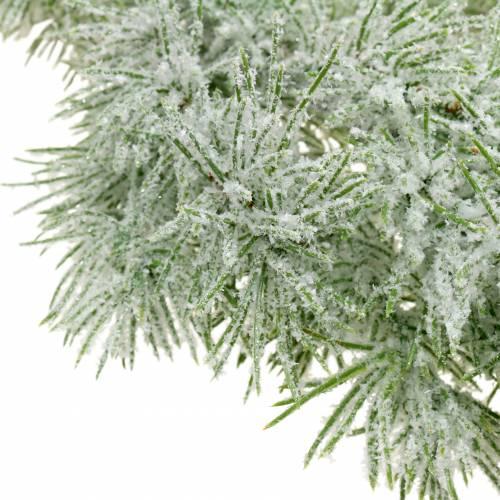 Lärchengirlande mit Glitter und Schnee 160cm