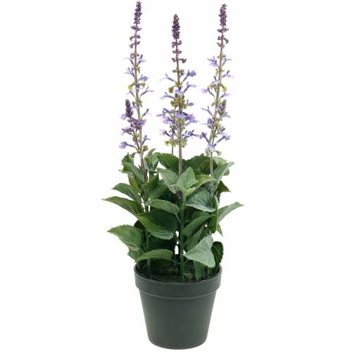Deko-Pflanze Lavendel, Mediterraner Lavendeltopf, Kunstblume Violett