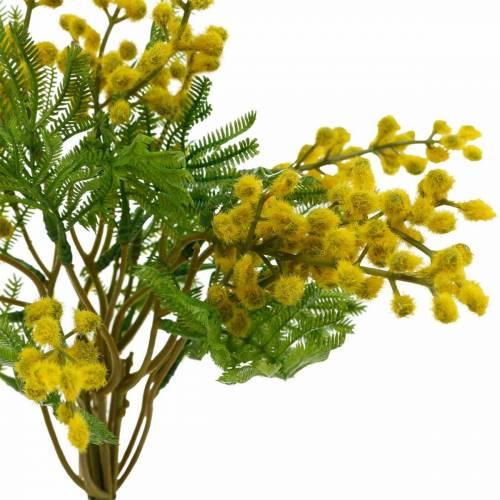 Mimose Gelb künstlich Kunstpflanze Bund 39cm