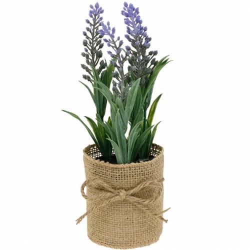 Mini-Lavendel im Topf Kunstpflanzen Künstlicher Lavendel Deko