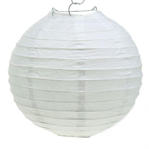 Lampion aus Papier Weiß Ø30cm