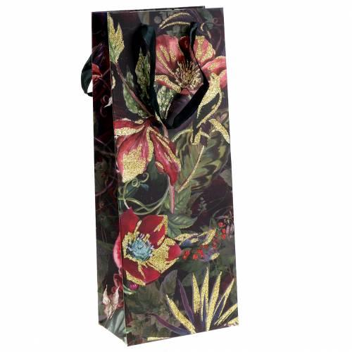Geschenktüte für Flaschen Blumen 8,5cm x 14cm H36cm