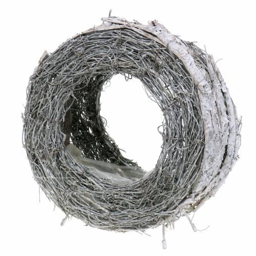 Pflanzkranz Rebe weiß gewaschen Ø24cm H26cm