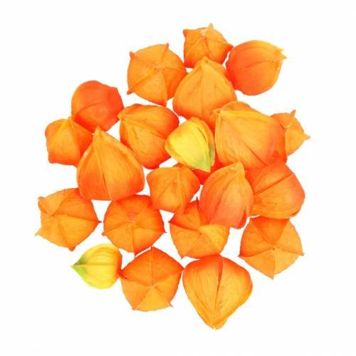 Physalis Orange Sortiert 22St Deko-Blütenkelche künstlich