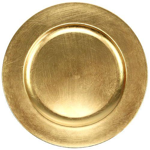 plastikteller 25cm gold mit blattgold effekt kaufen in schweiz. Black Bedroom Furniture Sets. Home Design Ideas