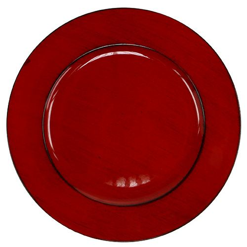 Plastikteller Ø33cm Rot-Schwarz