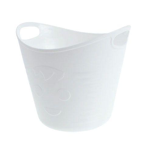 Plastiktöpfe mit Griffen 12St. 14cmx12cm Weiß