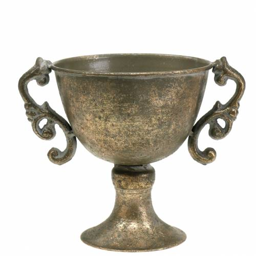 Metall Pokal Antik Gold Ø14cm H16cm