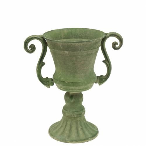 Pokal Schale Grün Ø11cm H19cm