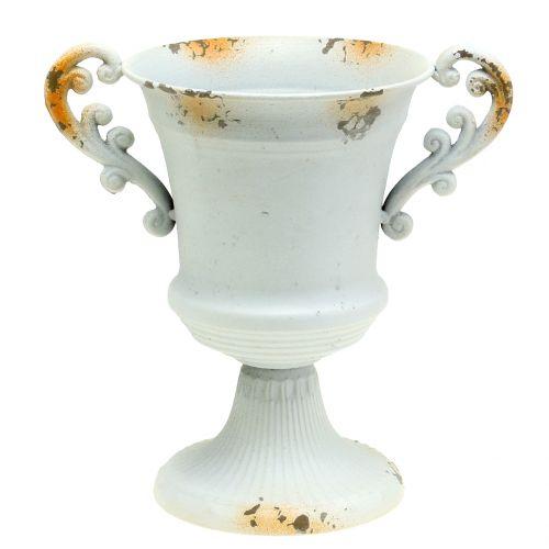 Pokal Antik Weiß Ø16,8cm H24,8cm
