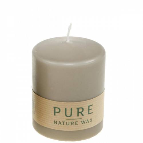Pure Stumpenkerze Braun 90/70 Kerze nachhaltig Stearin und Raps Naturwachs
