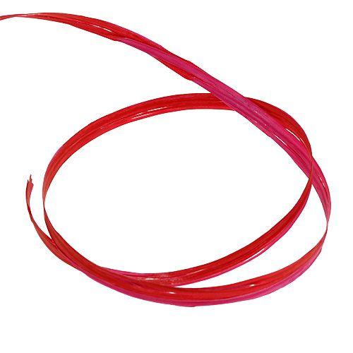 Raffiabast zweifarbig Rot-Rosa 200m