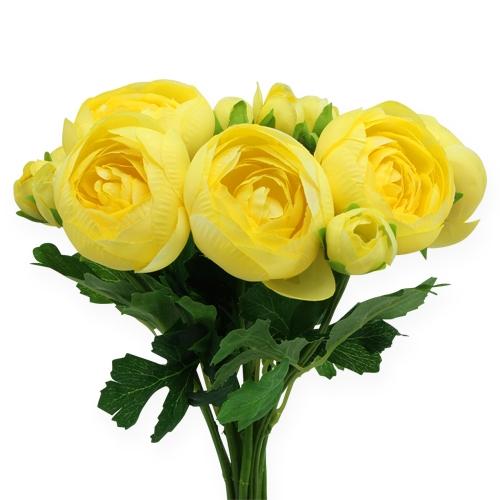 seidenblumen ranunkelstrau gelb 30cm kaufen in schweiz. Black Bedroom Furniture Sets. Home Design Ideas