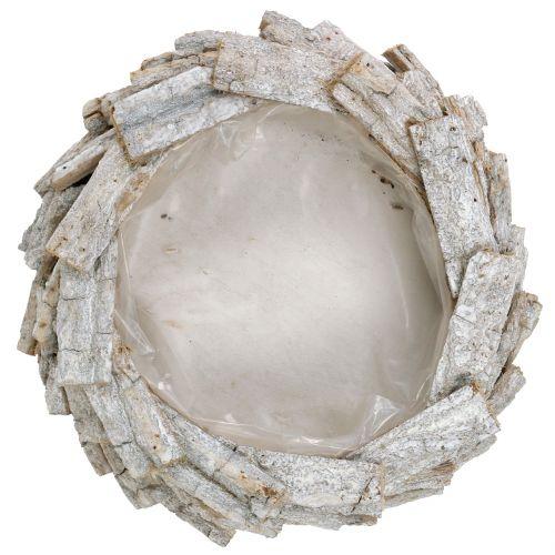 Rindenschale Weiß gewaschen Ø32cm H9cm