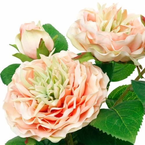 Deko-Rose im Topf, Romantische Seidenblumen, Rosa Pfingstrose