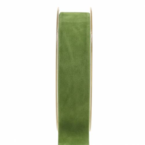 Samtband Grün 25mm 7m