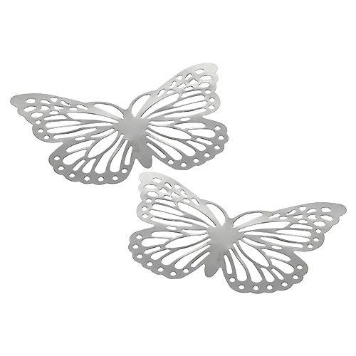 Schmetterling aus Metall 14,5cm x10cm Silber 6St kaufen in ...