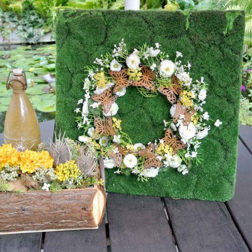 Schmetterlings-Deko, Frühlingsdeko zum Hängen, Kranz-Ring, Edelrost Ø30cm 2St