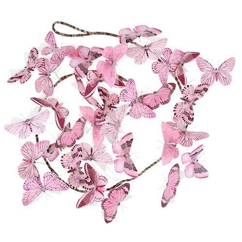 Schmetterlingsgirlande Rosa 154cm