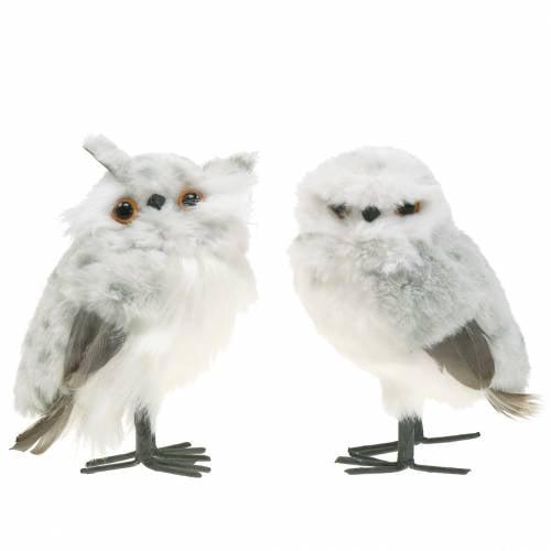 Schnee Eulen Weiß 15cm 2St
