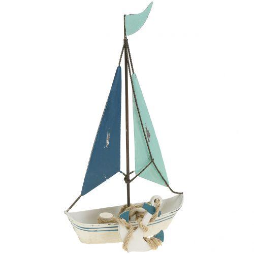 Deko Segelboot Metall H26cm