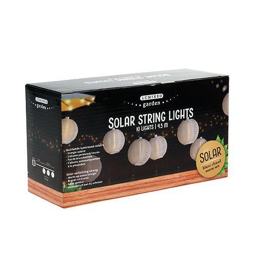 solar lampionkette led 4 5m wei 10 birnen kaufen in schweiz. Black Bedroom Furniture Sets. Home Design Ideas