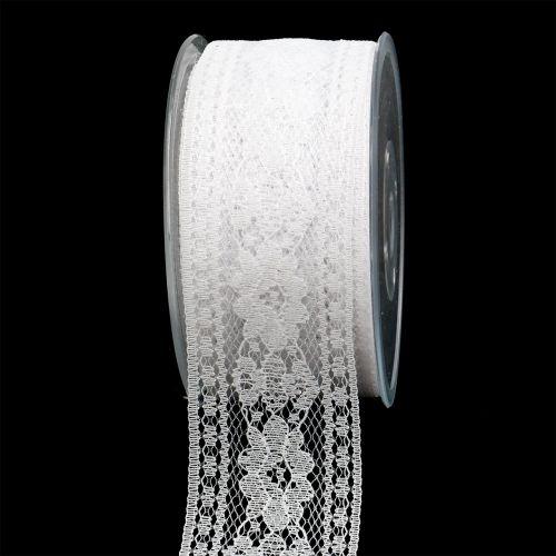 Dekoband Spitze 53mm 20m Weiß