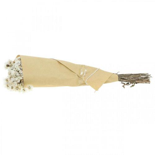 Strohblumen Trockenblumen Bouquet Weiß Klein 15g