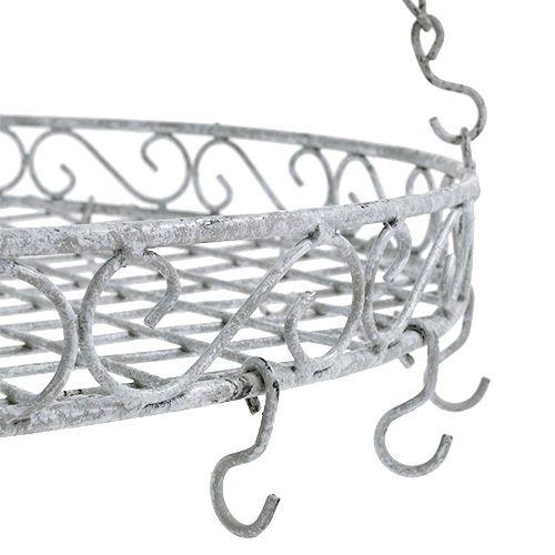 dekotablett mit haken grau 44 5cm kaufen in schweiz. Black Bedroom Furniture Sets. Home Design Ideas