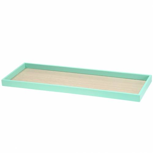 Holztablett Grün 49cm x 16,5cm