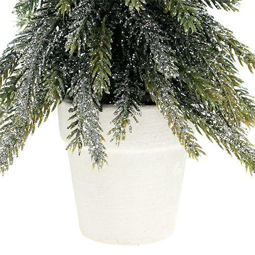 tannenbaum im topf mit glimmer l19cm kaufen in schweiz. Black Bedroom Furniture Sets. Home Design Ideas