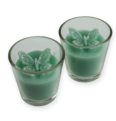 deko teelichter im glas mit schmetterling 2st kaufen in schweiz. Black Bedroom Furniture Sets. Home Design Ideas