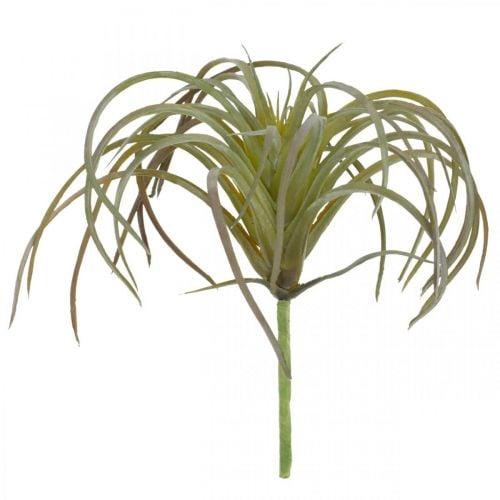 Tillandsie künstlich zum Stecken Grün-Lila Kunstpflanze 13cm