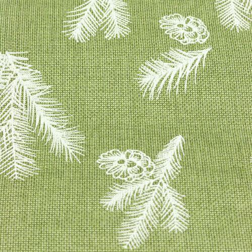 Tischband mit Tannenmuster Grün 20cm 5m