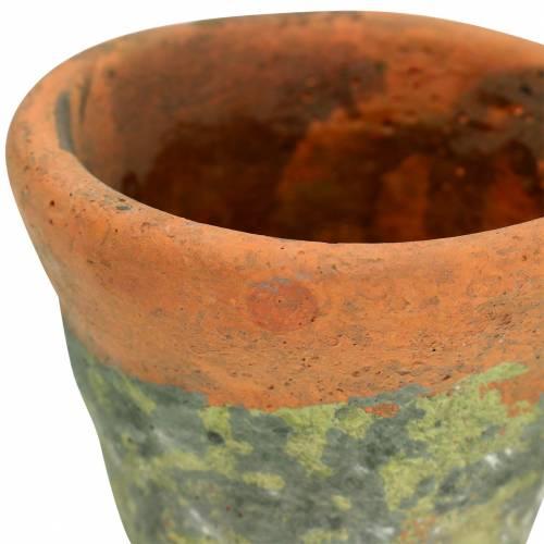 Pflanztopf Übertopf Vintage Natur Ton Ø14,5cm H12cm 2St