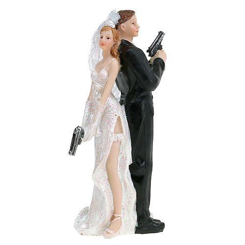 Tortenfigur Brautpaar 15,5cm