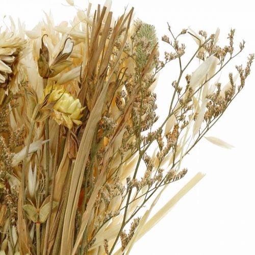 Trockenblumen Bouquet Natur 45cm