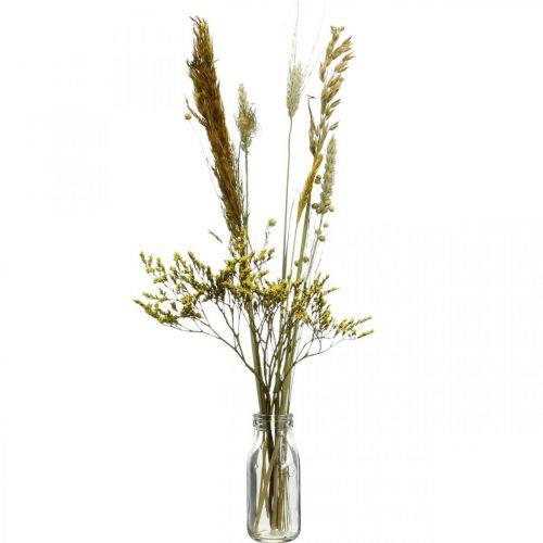 Trockenblumen DIY Set Gelb für Trockenstrauß 60cm