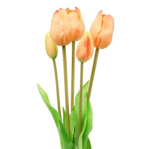 Tulpen Real-Touch Pfirsichfarben 44cm – 48cm 5St